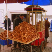 Simit Cart at the shore of Beyoğlu